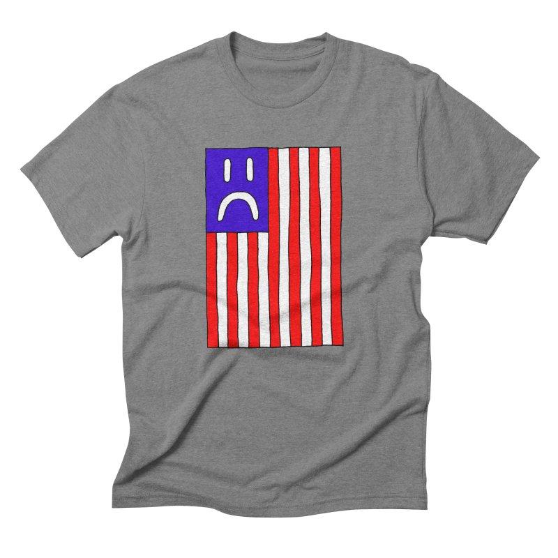 Sad Flag Men's Triblend T-Shirt by Zachary Hobbs