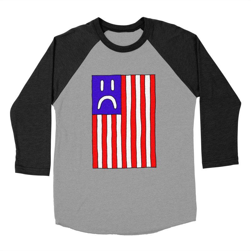 Sad Flag Women's Baseball Triblend T-Shirt by Zachary Hobbs