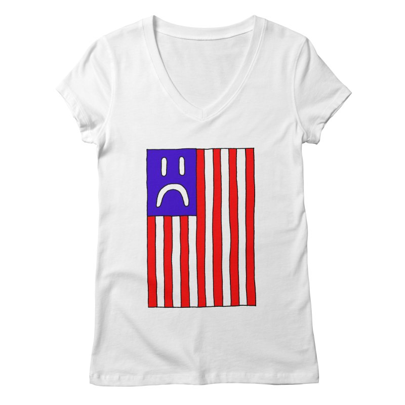 Sad Flag Women's V-Neck by Zachary Hobbs