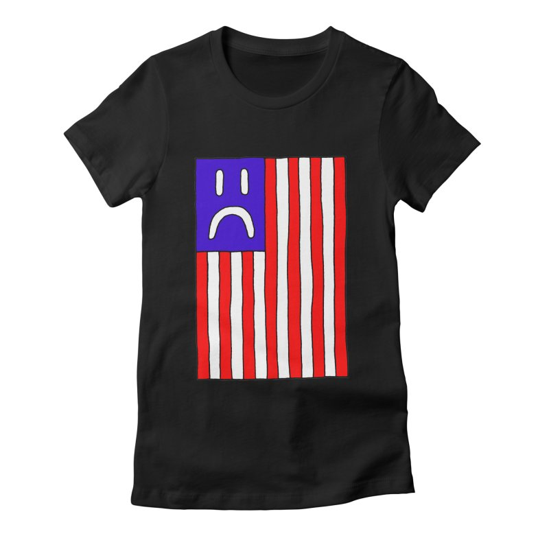 Sad Flag Women's Fitted T-Shirt by Zachary Hobbs