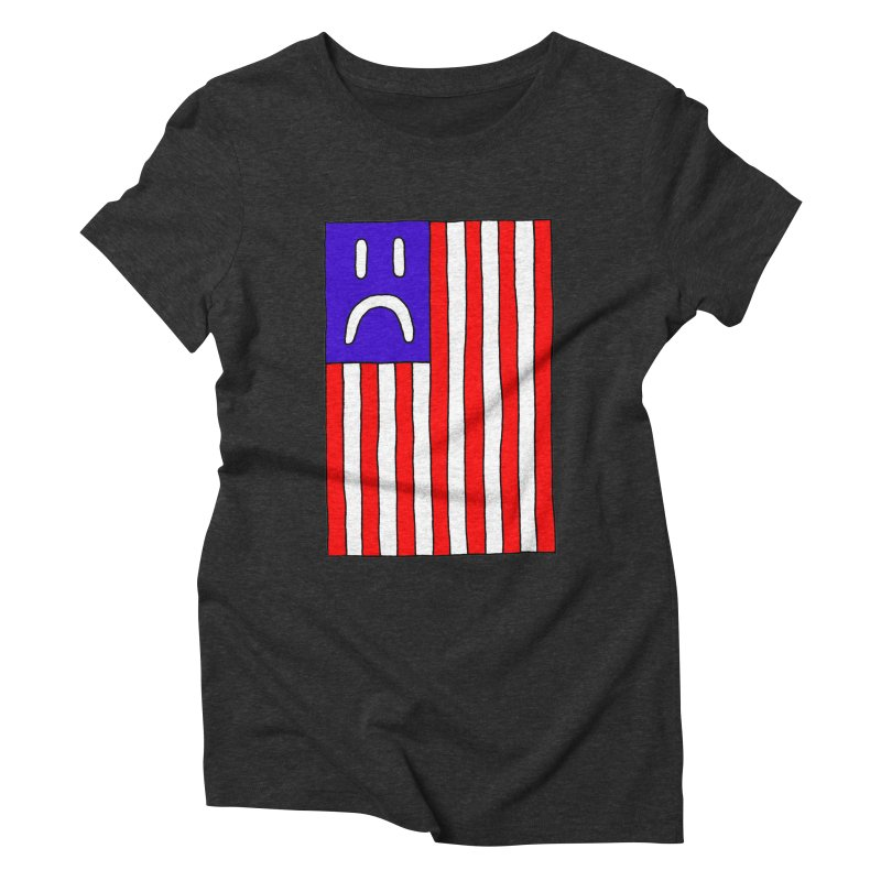 Sad Flag Women's Triblend T-Shirt by Zachary Hobbs