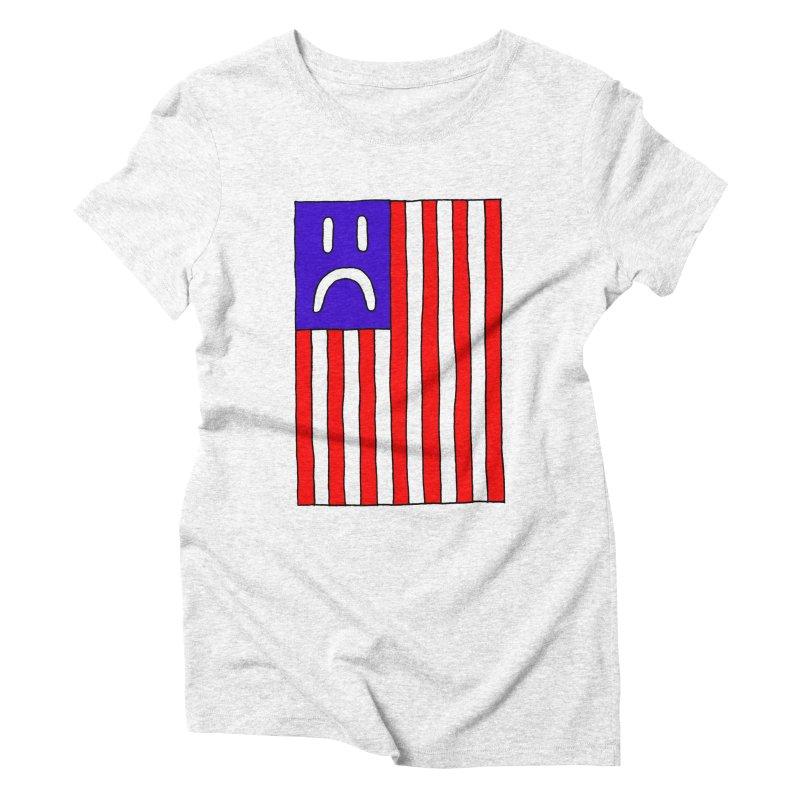 Sad Flag Women's Triblend T-shirt by Zachary Hobbs