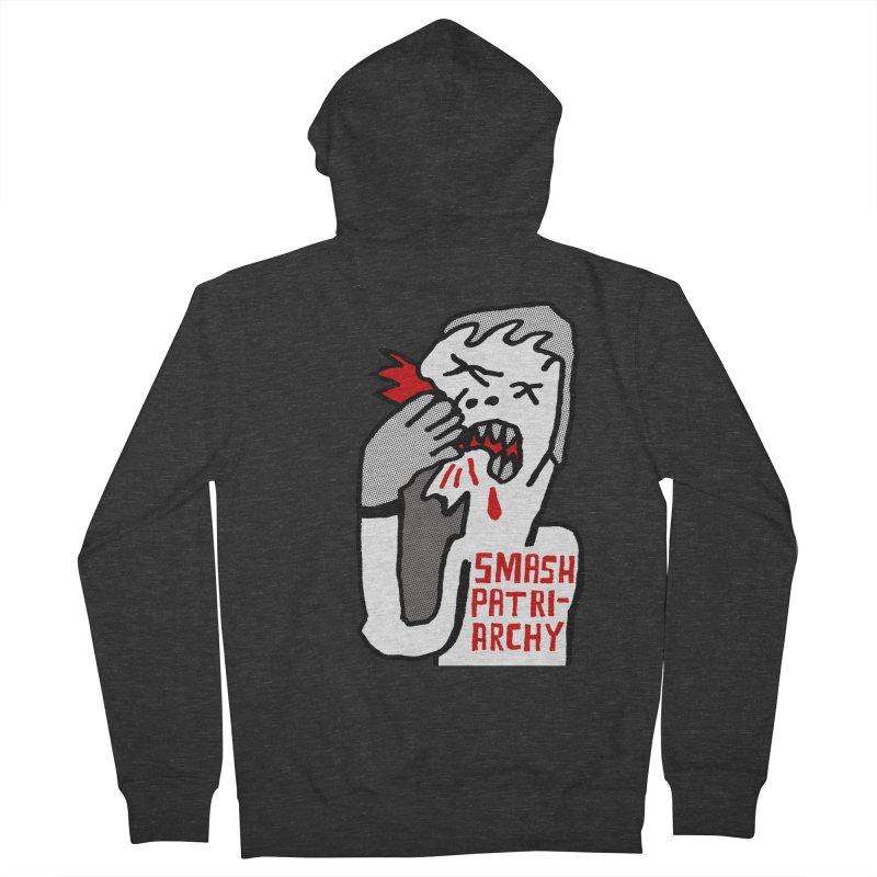 SMASH PATRIARCHY Men's Zip-Up Hoody by Zachary Hobbs