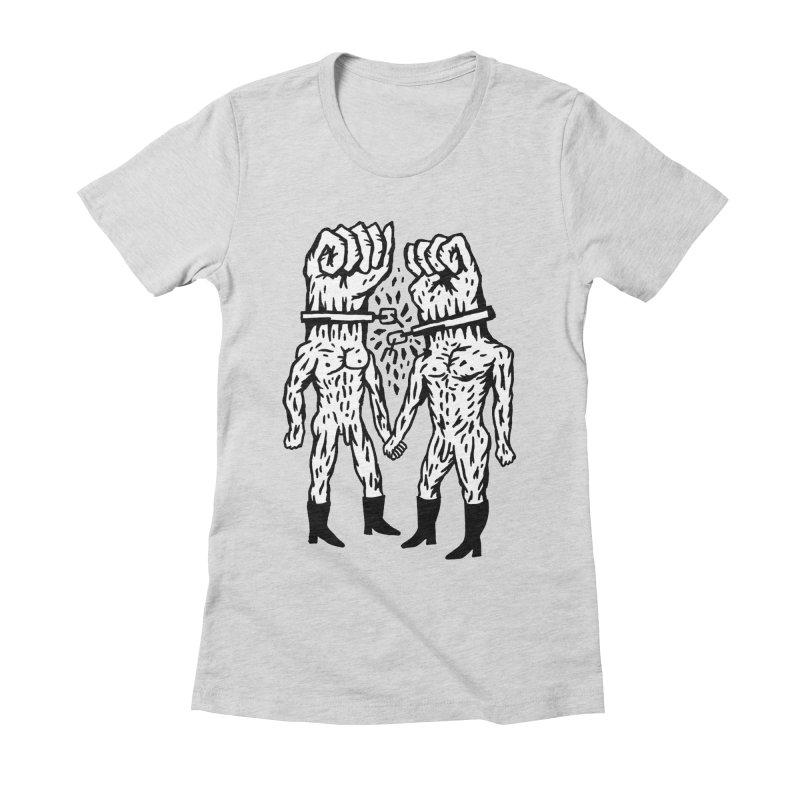 Hardcore Logo Women's Fitted T-Shirt by Zachary Hobbs
