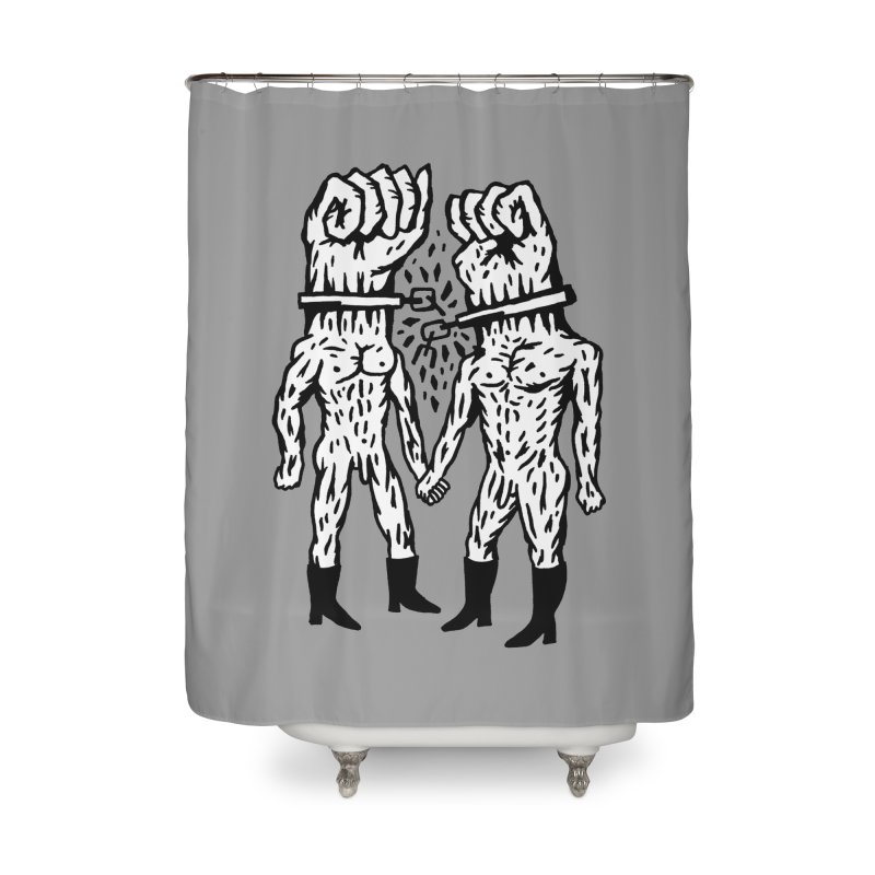 Hardcore Logo Home Shower Curtain by Zachary Hobbs
