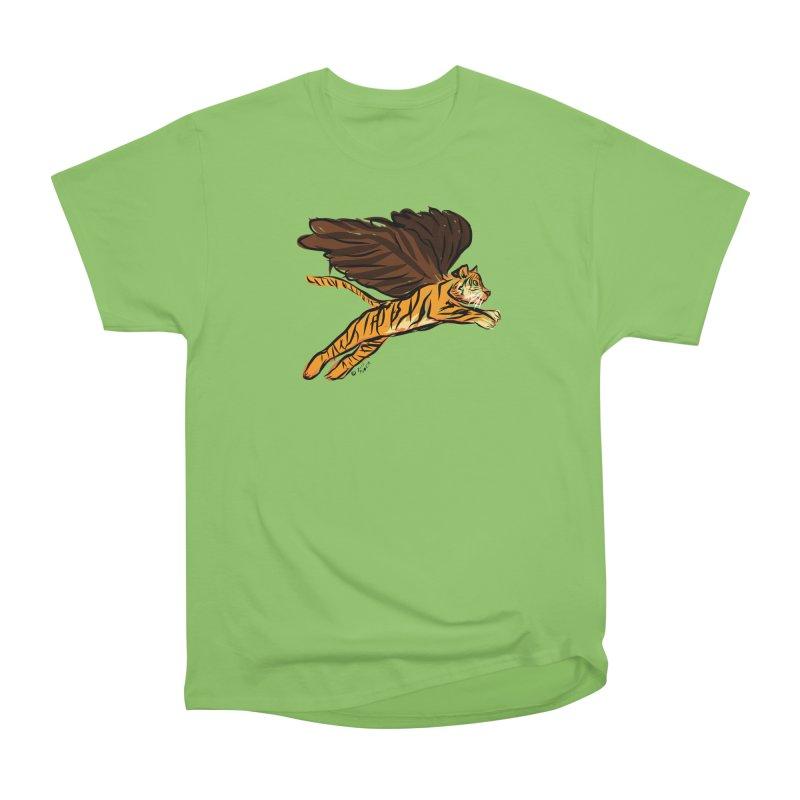 Roar & Soar! Women's Heavyweight Unisex T-Shirt by ACEMETRICAL ( / ) Disc Golf