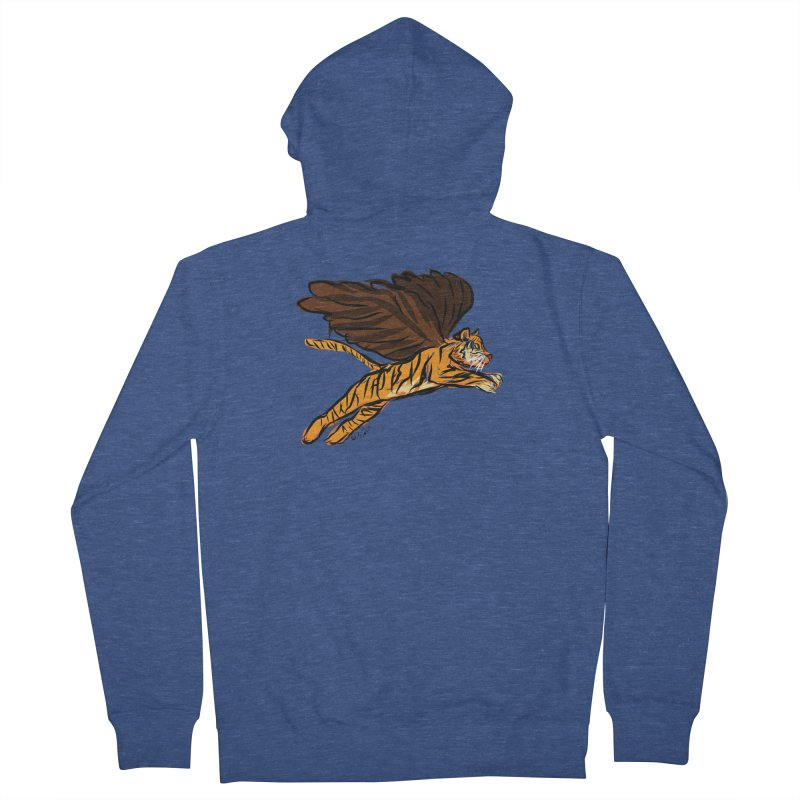Roar & Soar! Men's French Terry Zip-Up Hoody by ACEMETRICAL ( / ) Disc Golf