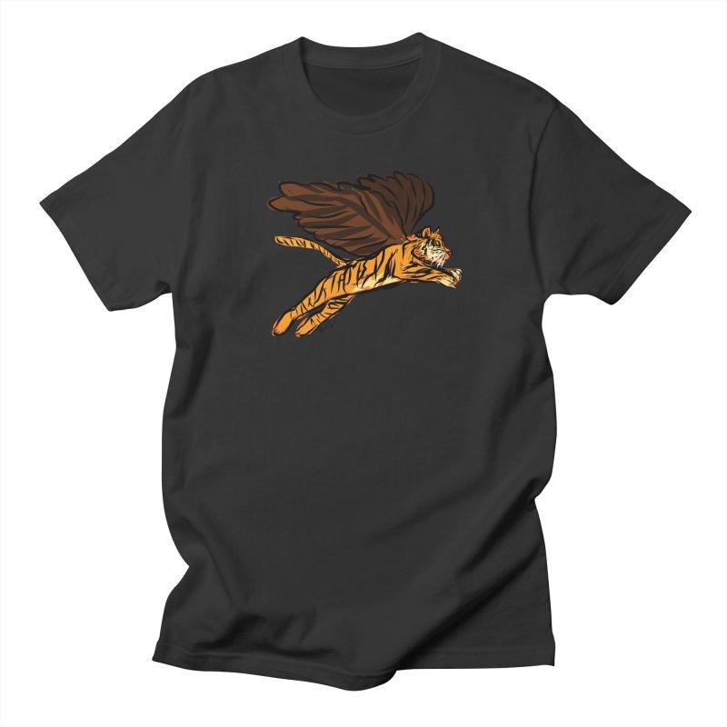 Roar & Soar! Men's Regular T-Shirt by ACEMETRICAL ( / ) Disc Golf