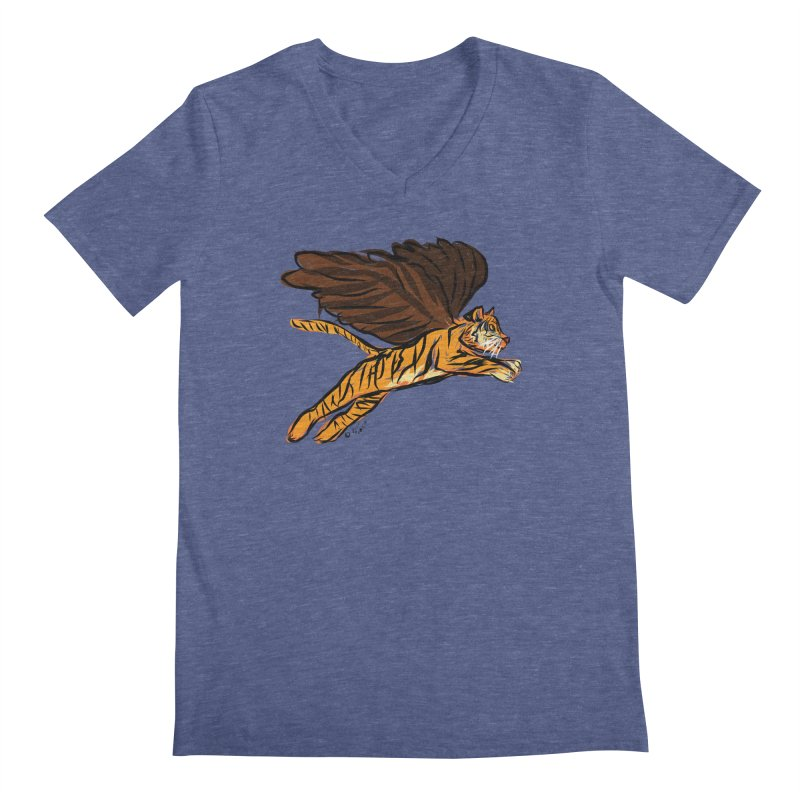 Roar & Soar! Men's Regular V-Neck by ACEMETRICAL ( / ) Disc Golf
