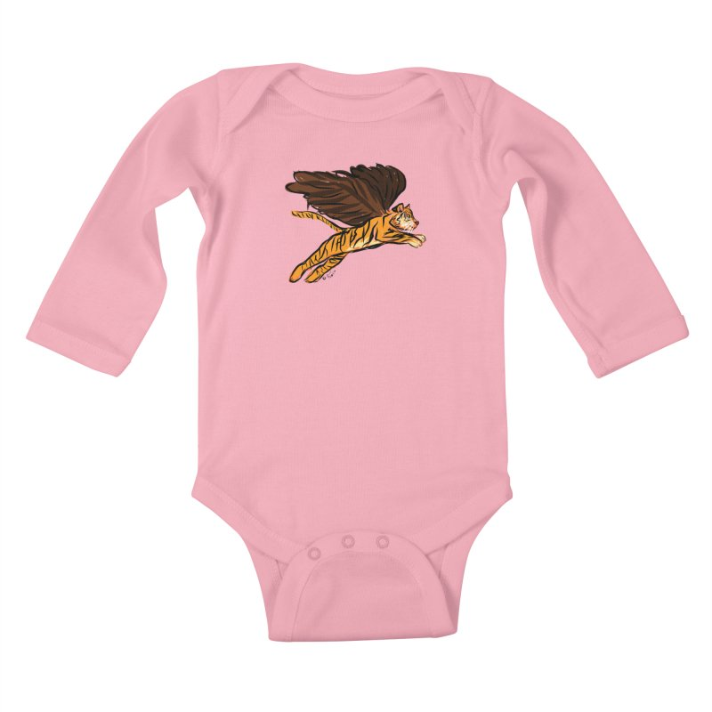 Roar & Soar! Kids Baby Longsleeve Bodysuit by ACEMETRICAL ( / ) Disc Golf
