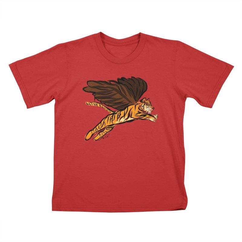 Roar & Soar! Kids T-Shirt by ACEMETRICAL ( / ) Disc Golf