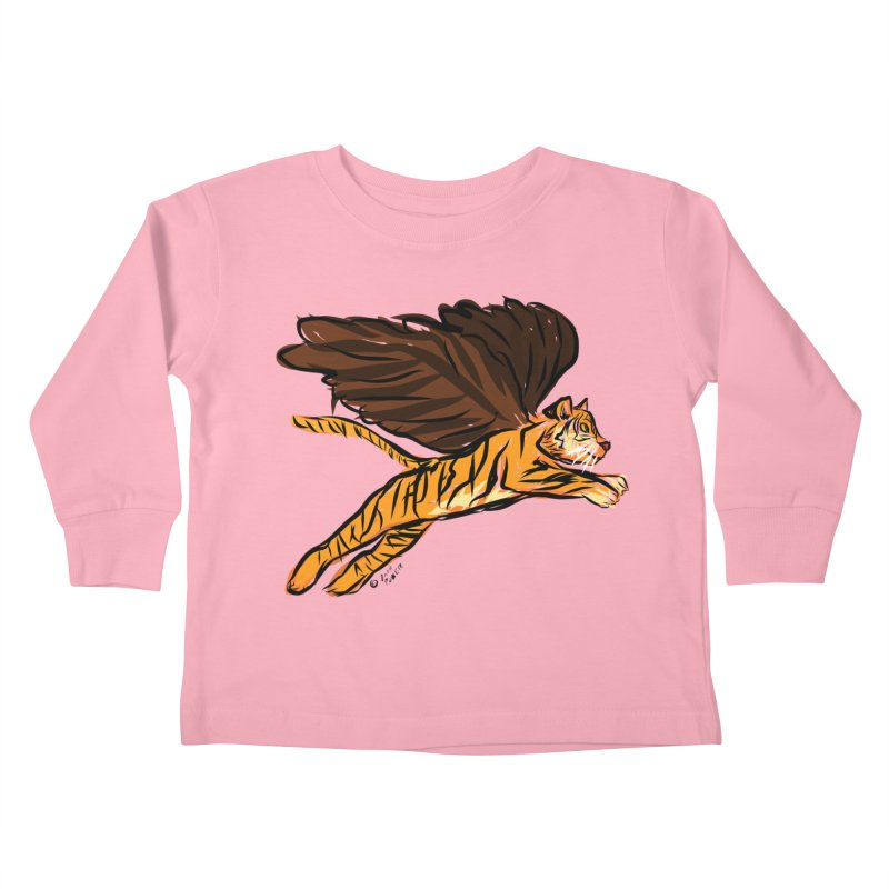 Roar & Soar! Kids Toddler Longsleeve T-Shirt by ACEMETRICAL ( / ) Disc Golf