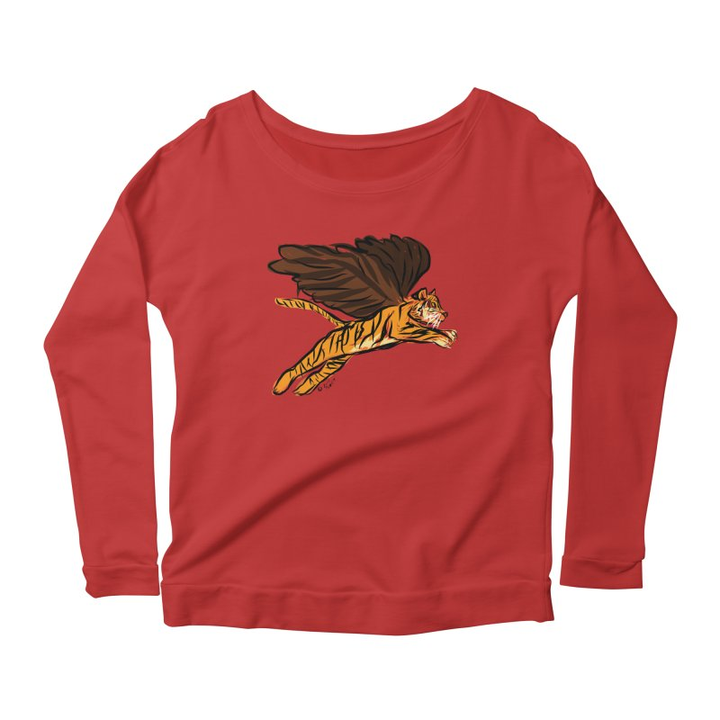 Roar & Soar! Women's Scoop Neck Longsleeve T-Shirt by ACEMETRICAL ( / ) Disc Golf