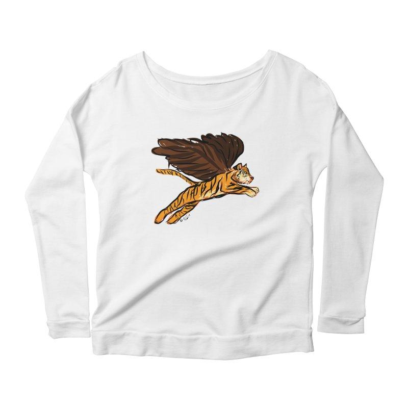 Roar & Soar! Women's Scoop Neck Longsleeve T-Shirt by ACEMETRICAL ( / ) Disc Golf