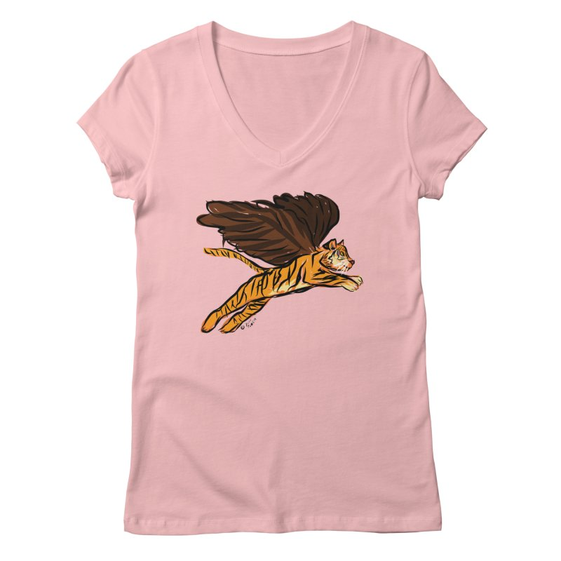 Roar & Soar! Women's V-Neck by ACEMETRICAL ( / ) Disc Golf