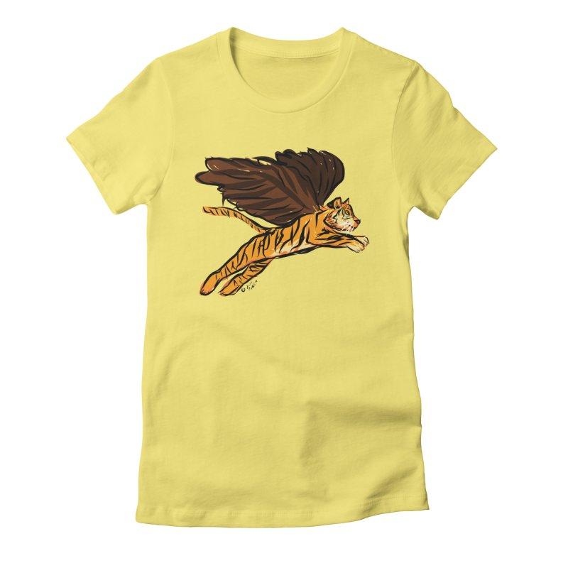 Roar & Soar! Women's Fitted T-Shirt by ACEMETRICAL ( / ) Disc Golf