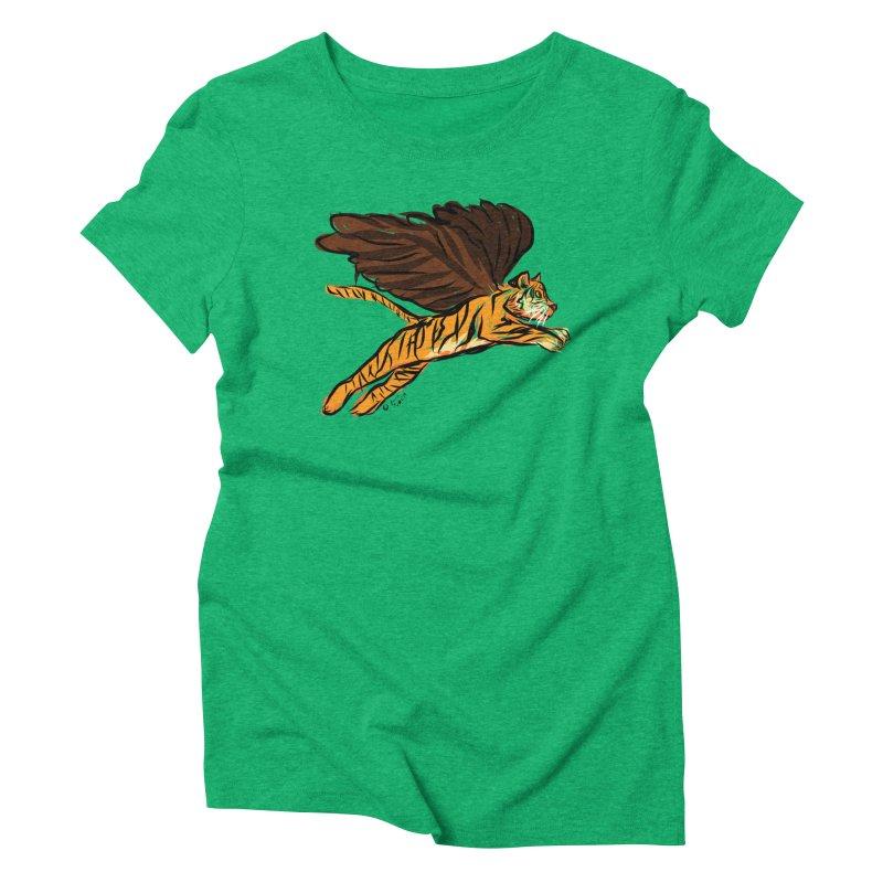 Roar & Soar! Women's Triblend T-Shirt by ACEMETRICAL ( / ) Disc Golf