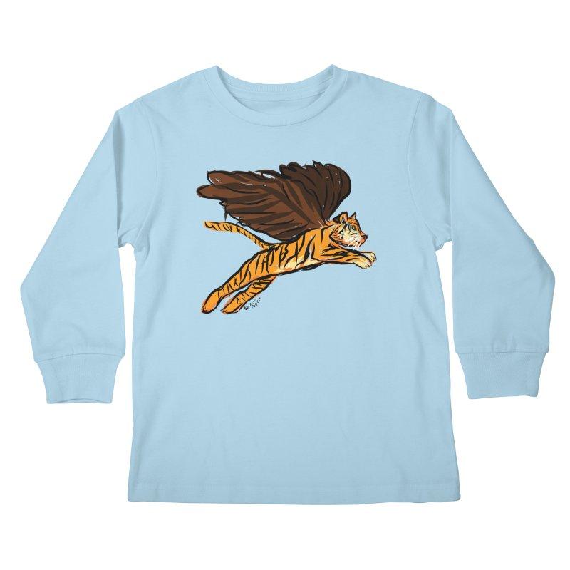 Roar & Soar! Kids Longsleeve T-Shirt by ACEMETRICAL ( / ) Disc Golf