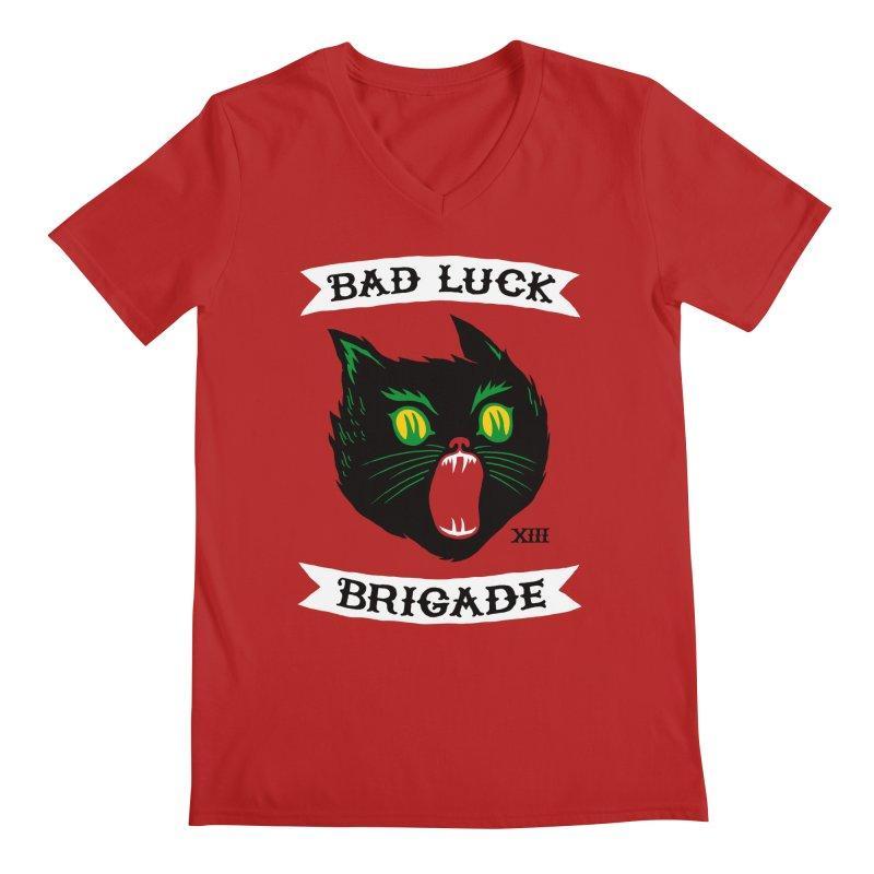 Bad Luck Brigade Men's V-Neck by Zack Forer