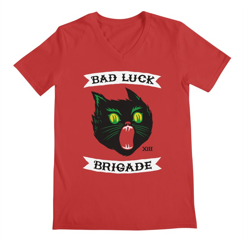 Bad Luck Brigade Men's V-Neck by Zack Forer