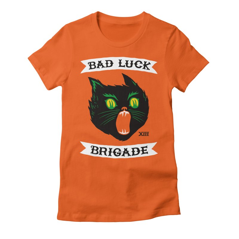 Bad Luck Brigade Women's Fitted T-Shirt by Zack Forer