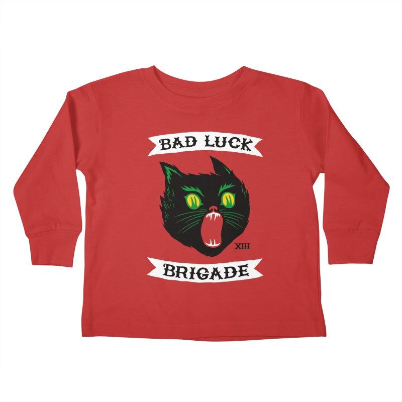 Bad Luck Brigade Kids Toddler Longsleeve T-Shirt by Zack Forer