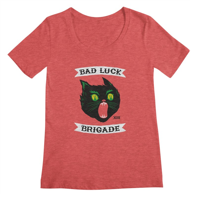 Bad Luck Brigade Women's Scoopneck by Zack Forer