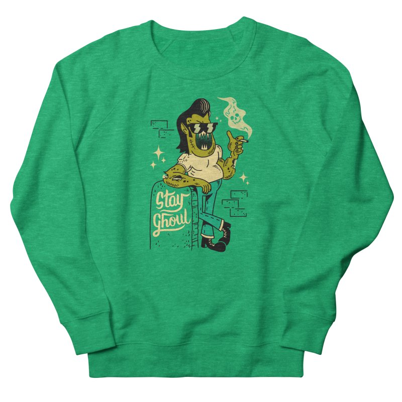 Stay Ghoul Women's French Terry Sweatshirt by Zack Forer