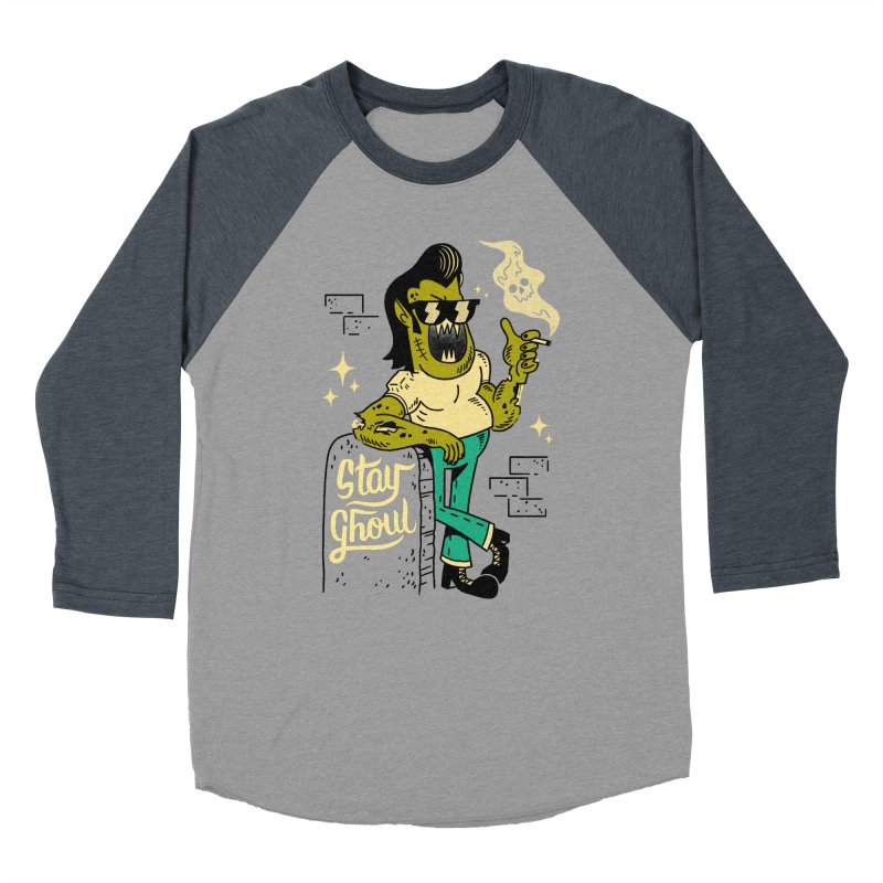 Stay Ghoul Men's Baseball Triblend T-Shirt by Zack Forer