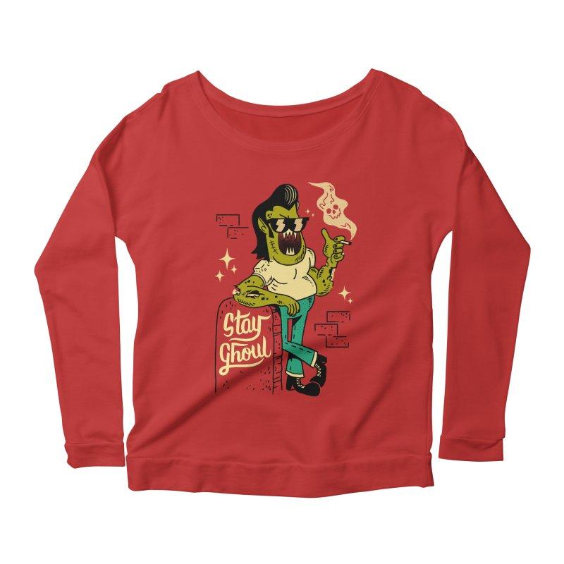 Stay Ghoul Women's Scoop Neck Longsleeve T-Shirt by Zack Forer
