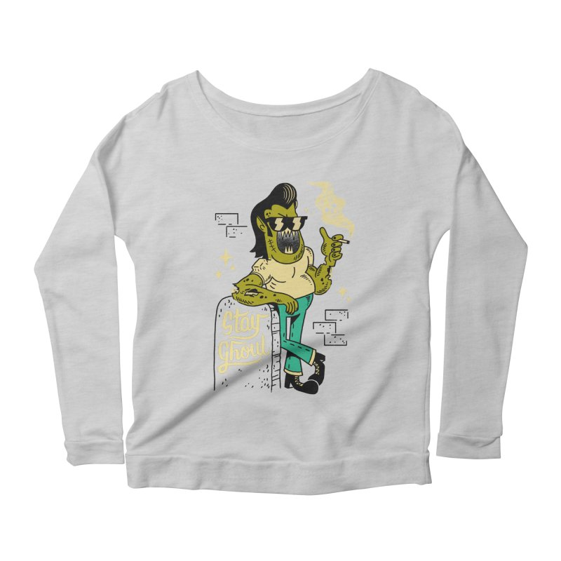 Stay Ghoul Women's Longsleeve Scoopneck  by Zack Forer