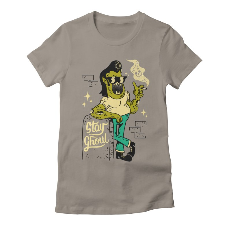 Stay Ghoul Women's Fitted T-Shirt by Zack Forer