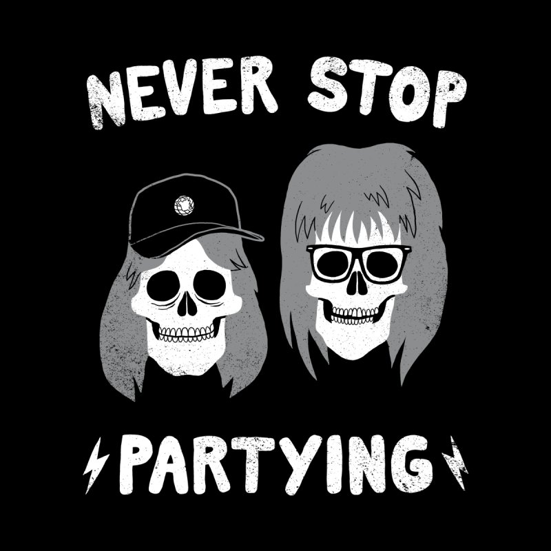 Never Stop Partying Men's Baseball Triblend T-Shirt by Zack Forer