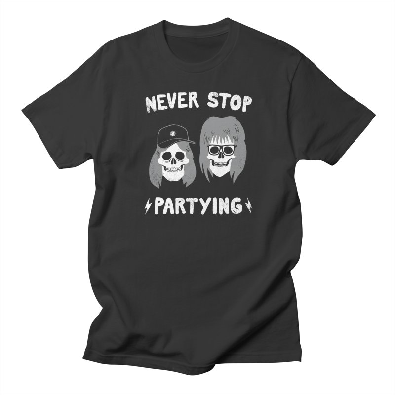 Never Stop Partying Men's T-shirt by Zack Forer