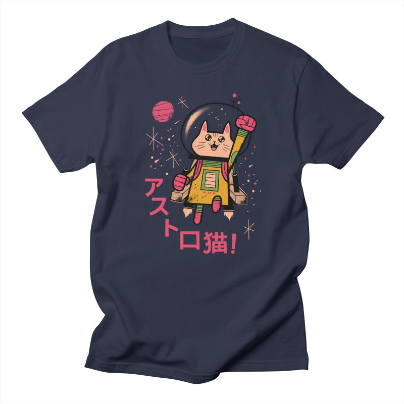 Go, Astrocat, Go! Men's T-Shirt by Zack Forer