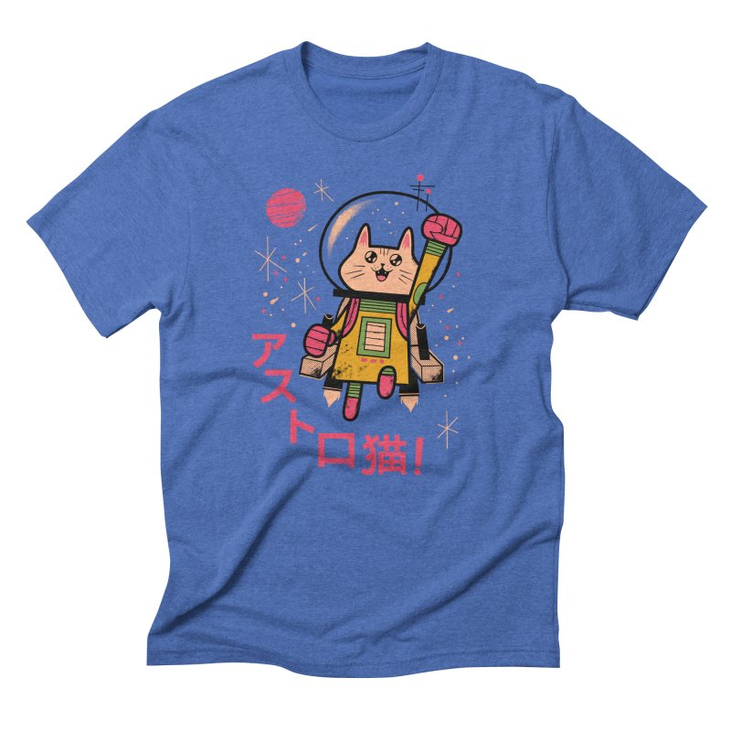 Go, Astrocat, Go! Men's Triblend T-Shirt by Zack Forer