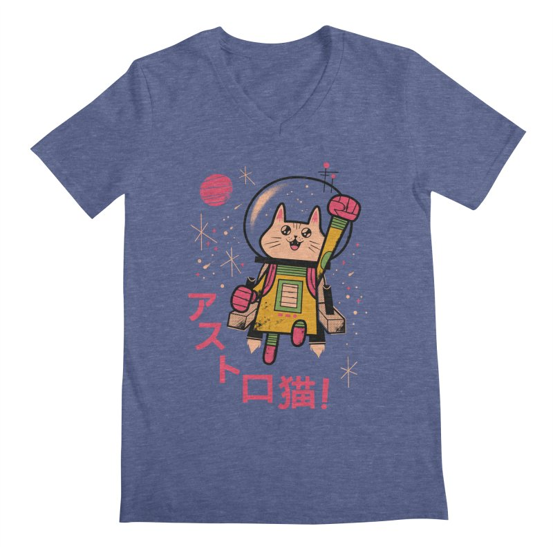 Go, Astrocat, Go! Men's V-Neck by Zack Forer