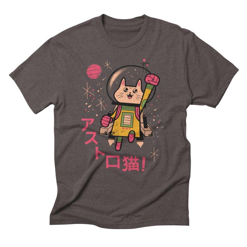 Go, Astrocat, Go! Men's Triblend T-shirt by Zack Forer