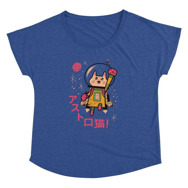 Go, Astrocat, Go! Women's Dolman by Zack Forer