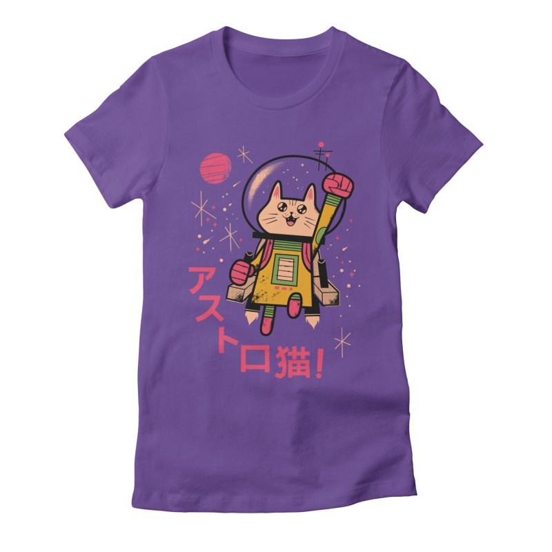 Go, Astrocat, Go! Women's Fitted T-Shirt by Zack Forer