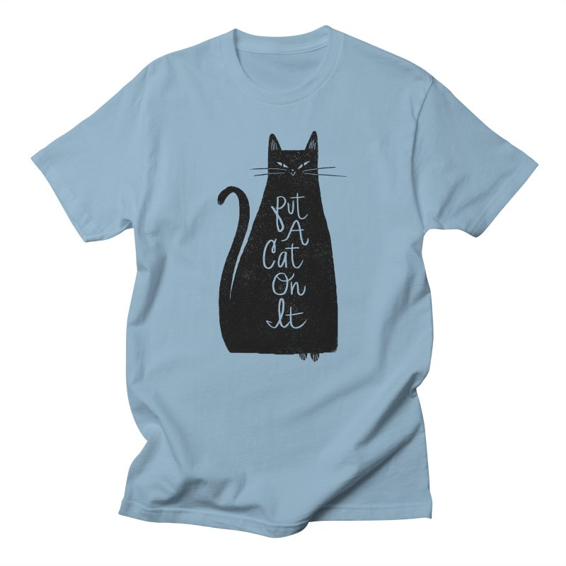 Trendy Cat Graphic Tee Men's T-shirt by Zack Forer