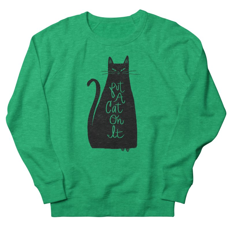 Trendy Cat Graphic Tee Women's Sweatshirt by Zack Forer