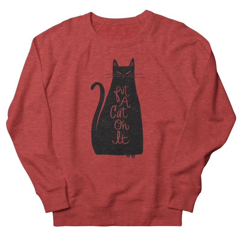 Trendy Cat Graphic Tee Women's French Terry Sweatshirt by Zack Forer
