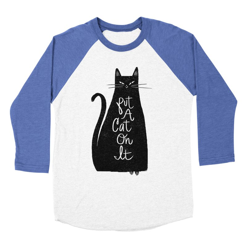 Trendy Cat Graphic Tee Women's Baseball Triblend Longsleeve T-Shirt by Zack Forer