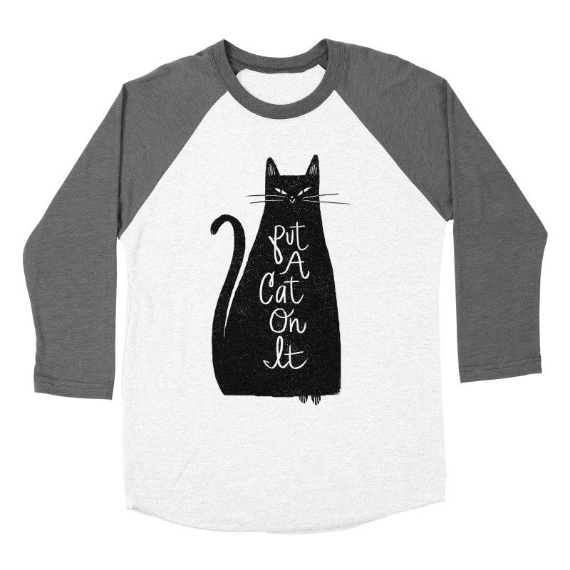 Trendy Cat Graphic Tee Women's Baseball Triblend Longsleeve T-Shirt by Zack Forer