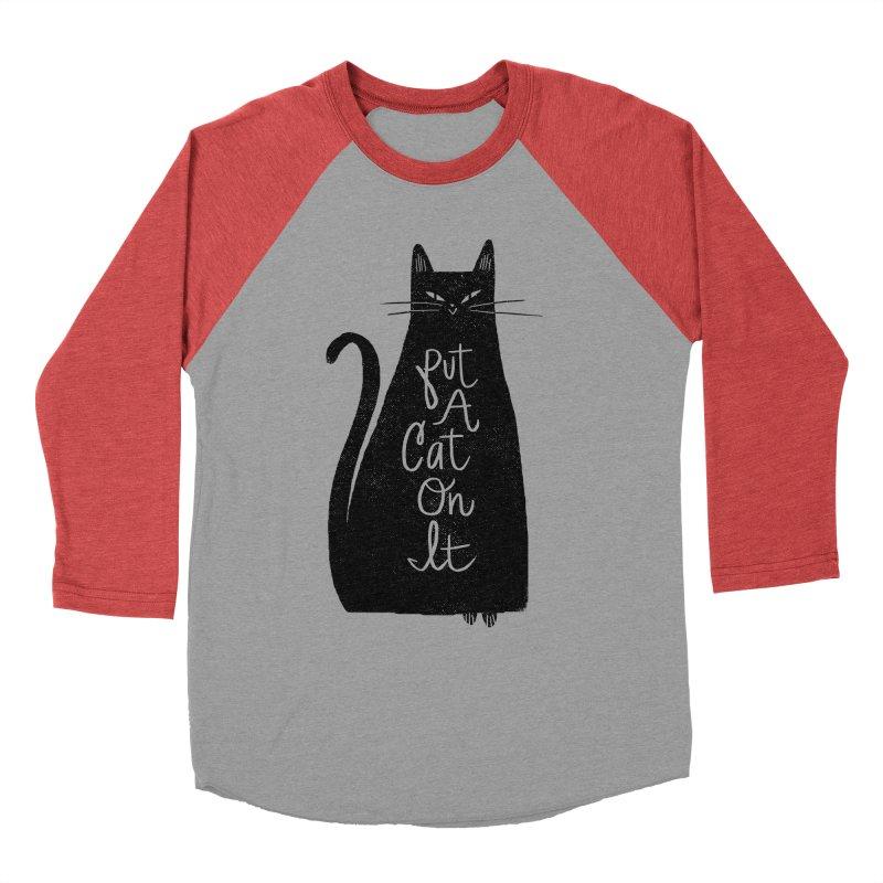 Trendy Cat Graphic Tee Women's Baseball Triblend T-Shirt by Zack Forer