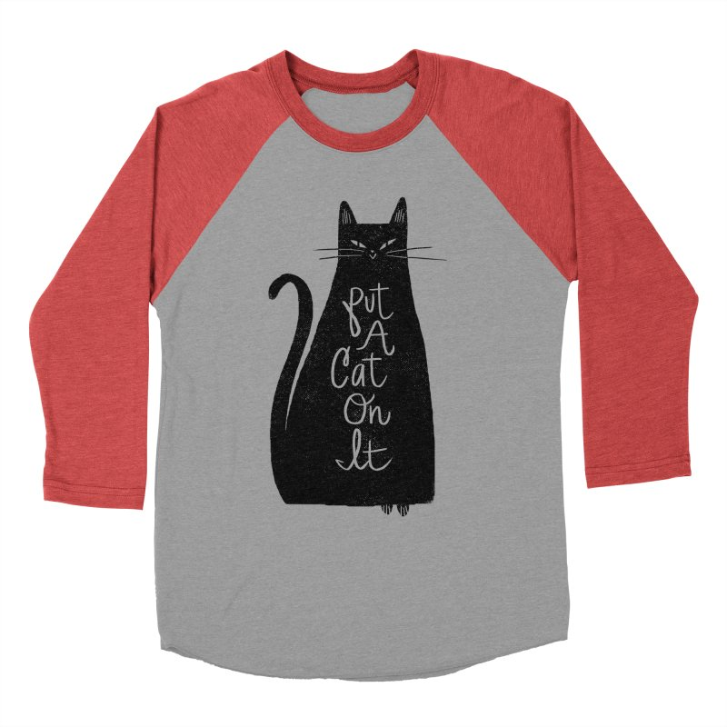 Trendy Cat Graphic Tee Men's Baseball Triblend T-Shirt by Zack Forer