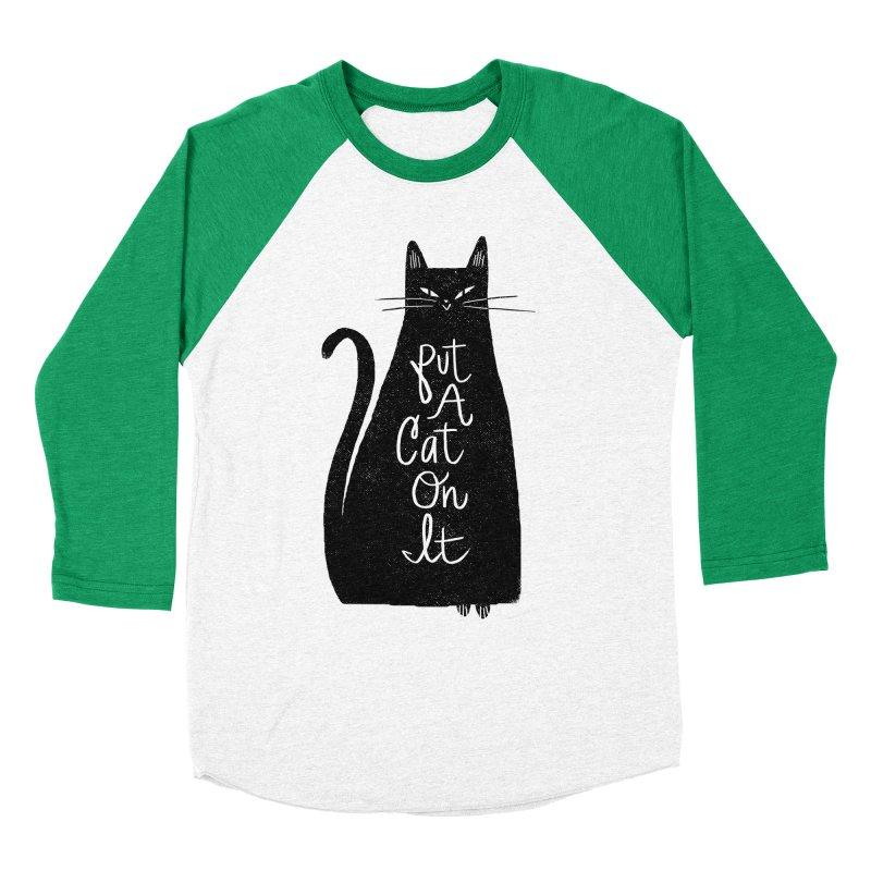 Trendy Cat Graphic Tee Men's Baseball Triblend T-Shirt by Zack Forer