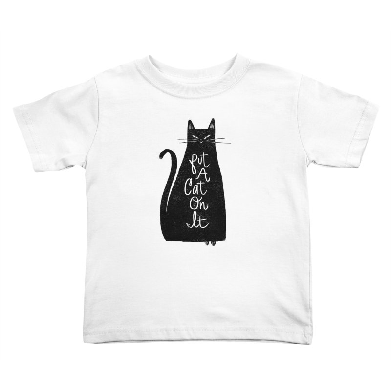 Trendy Cat Graphic Tee Kids Toddler T-Shirt by Zack Forer