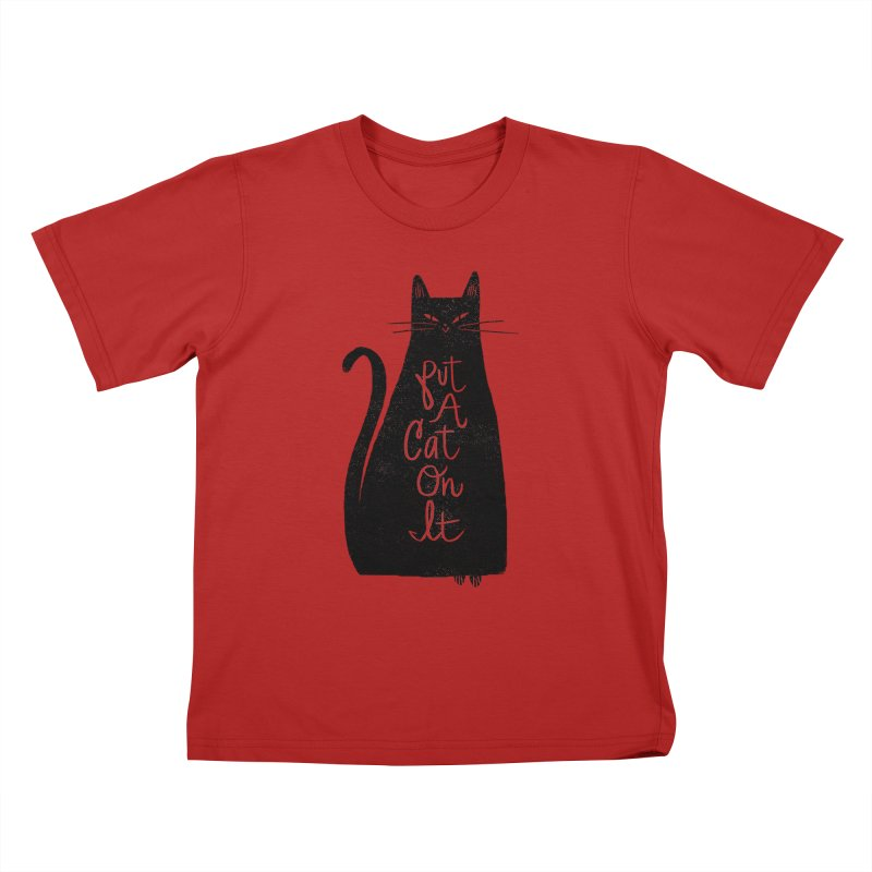 Trendy Cat Graphic Tee Kids T-shirt by Zack Forer